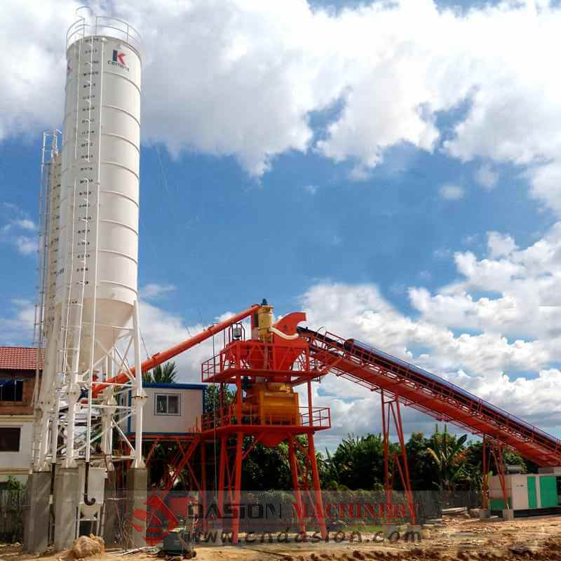 Hzs60 Concrete Batching Plant 60m3 H