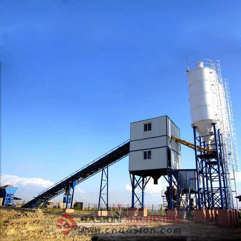 Cement Plant Machinery : Hzs concrete batching plant m h