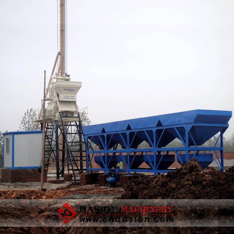 Batching Plant Operation : Bucket concrete batching plant mixing